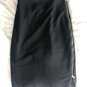 Express pencil skirt with gold zipper size 2